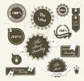Set of vintage retro premium quality badges Royalty Free Stock Photography