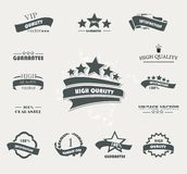 Set of vintage retro premium quality badges Stock Photo