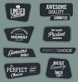 Set of vintage retro premium quality badges and labels Stock Image