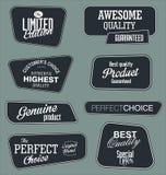 Set of vintage retro premium quality badges and labels Stock Image