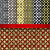 Set Vintage retro seamless patterns. Royalty Free Stock Images