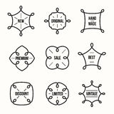 Set of vintage retro styled quality labels Stock Photography