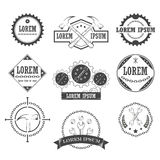 Set of vintage retro tools, labels Royalty Free Stock Photography