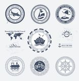 Set of vintage retro tourist badges Stock Image