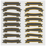Set Vintage ribbons and banners with gold  Stock Image