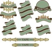 Set of vintage ribbons and banners Royalty Free Stock Images