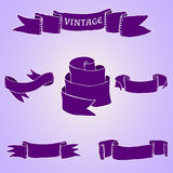Set of vintage ribbons and banners. Vector set of vintage ribbons and banners Stock Photo