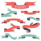 Set of vintage ribbons Royalty Free Stock Photo