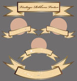 Set of Vintage Ribbons Stock Photography
