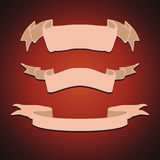 Set of Vintage Ribbons Vector Royalty Free Stock Images
