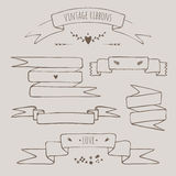 Set of vintage ribbons Stock Images