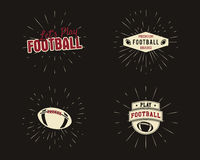 Set of vintage rugby and american football labels Royalty Free Stock Photo