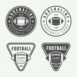 Set of vintage rugby and american football labels, emblems Stock Photo