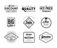 Set of vintage sale and commerce badges Stock Photography