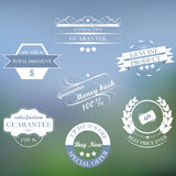 Set of  vintage sale labels and ribbons Royalty Free Stock Photo