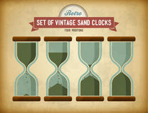 Set of vintage sand clocks Royalty Free Stock Photo
