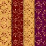 Set of vintage seamless with arabic pattern Royalty Free Stock Photo