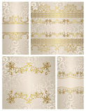 Set of vintage seamless backgrounds Royalty Free Stock Images