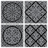 Set of vintage seamless patterns Royalty Free Stock Images
