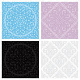Set of vintage seamless patterns Stock Photo