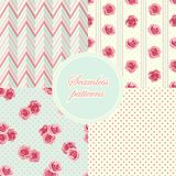 Set of vintage seamless patterns Stock Images