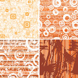Set vintage SEAMLESS wallpaper. Royalty Free Stock Image