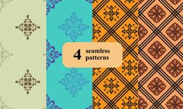 Set of vintage, seamless wallpapers. royalty free stock photo