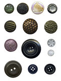 Set of vintage sewing buttons Royalty Free Stock Image