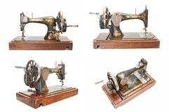 Set of vintage sewing machines Stock Photo