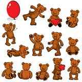 Set of  vintage soft toys-bears Royalty Free Stock Photography