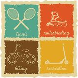 Set of Vintage Sport Labels Royalty Free Stock Image