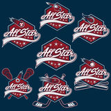 Set of vintage sports all star