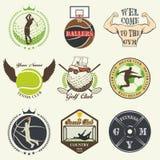 Set of vintage sports emblems Royalty Free Stock Photography