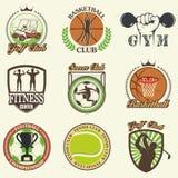 Set of vintage sports emblems Stock Photo