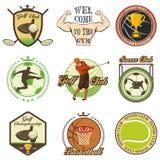Set of vintage sports emblems Royalty Free Stock Photo