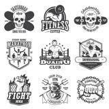 Set of vintage sports emblems Stock Photography