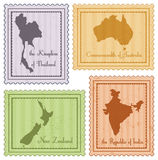 Set of vintage stamps Royalty Free Stock Photography