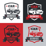 Set of vintage style car service label. Vector logo design templ Stock Images