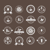 Set of vintage style elements of coffee shop Stock Photo