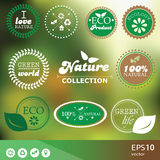 Set of vintage style elements for icons, labels and badges stock illustration