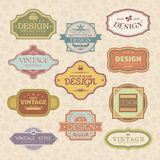 Set of vintage style frames Royalty Free Stock Photography