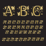 Set of vintage style initial letters. Stock Photos