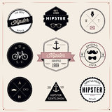 Set of vintage styled design hipster icons. Vector Stock Image
