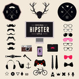 Set of Vintage styled design Hipster icons. Vector illustration background vector illustration