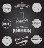 Set of Vintage styled design icons and banners Royalty Free Stock Photography