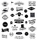 Set of Vintage styled design icons and banners. Stock Photos