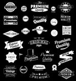 Set of Vintage styled design icons and banners. Stock Photography