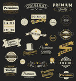 Set of Vintage styled design logo and banners Stock Image