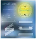 Set Of Vintage summer hipster Badges Stock Images