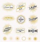 Set of vintage sunburst frame and label design Royalty Free Stock Photo